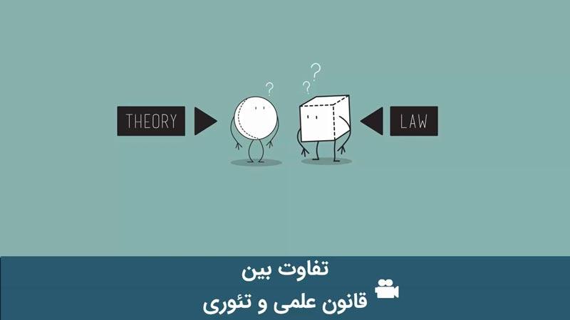 تفاوت بین قانون علمی و تئوری