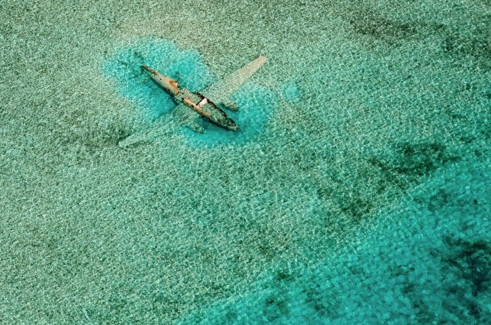 هواپیمای سقوط کرده در جزیره ی نورم،اکزوماس،باهاما