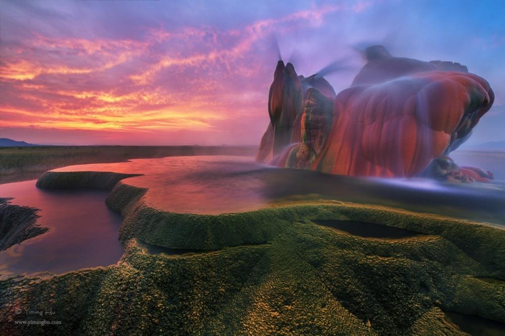 چشمه ی آبگرم معلق، امریکا