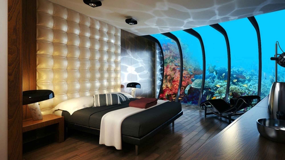 اتاقی در هتل زیر آب، دوبی