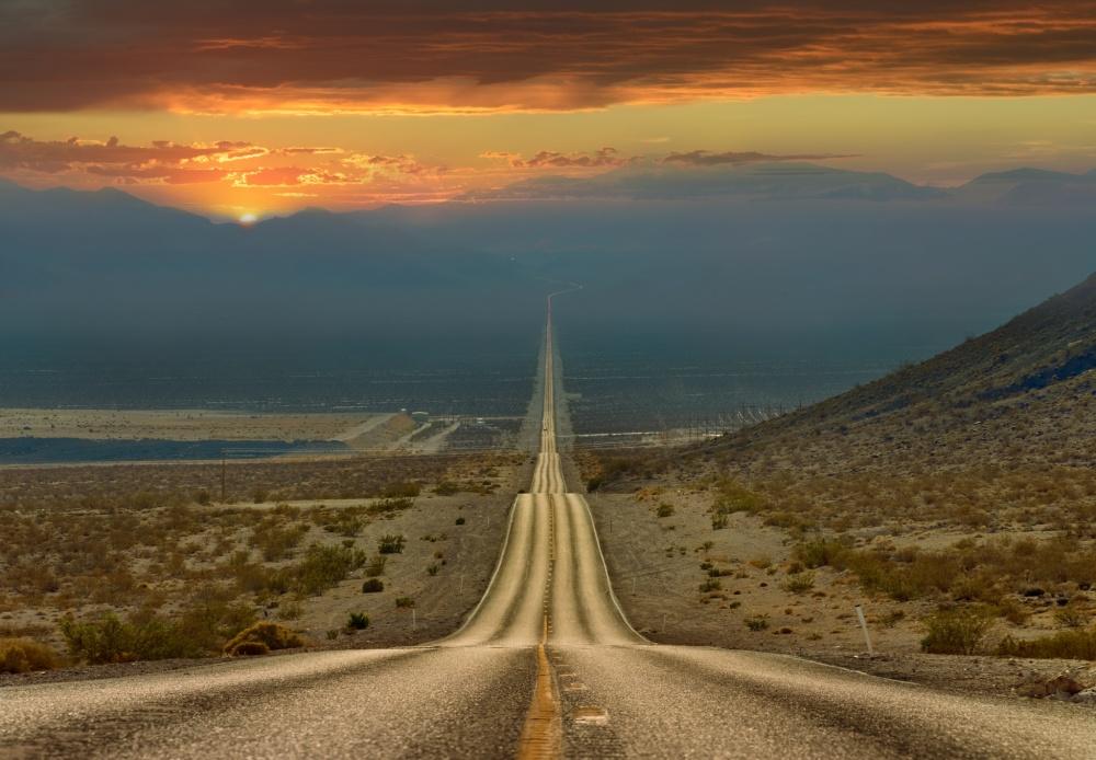 جاده ی دره ی مرگ به طول 200 کیلومتر، امریکا