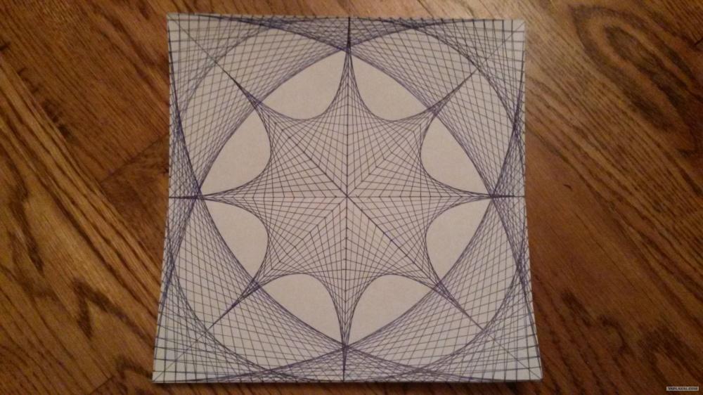 طرحی که فقط با استفاده از خطوط صاف کشیده شده است
