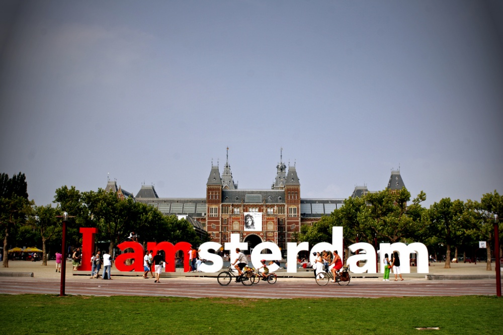 چیدمان من آمستردام، در برابر موزه ی رایکس