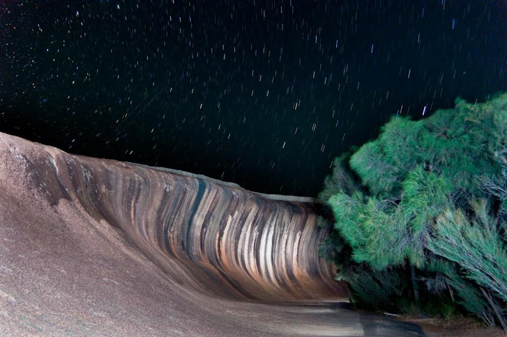 صخره ی موجی در شهر پرس