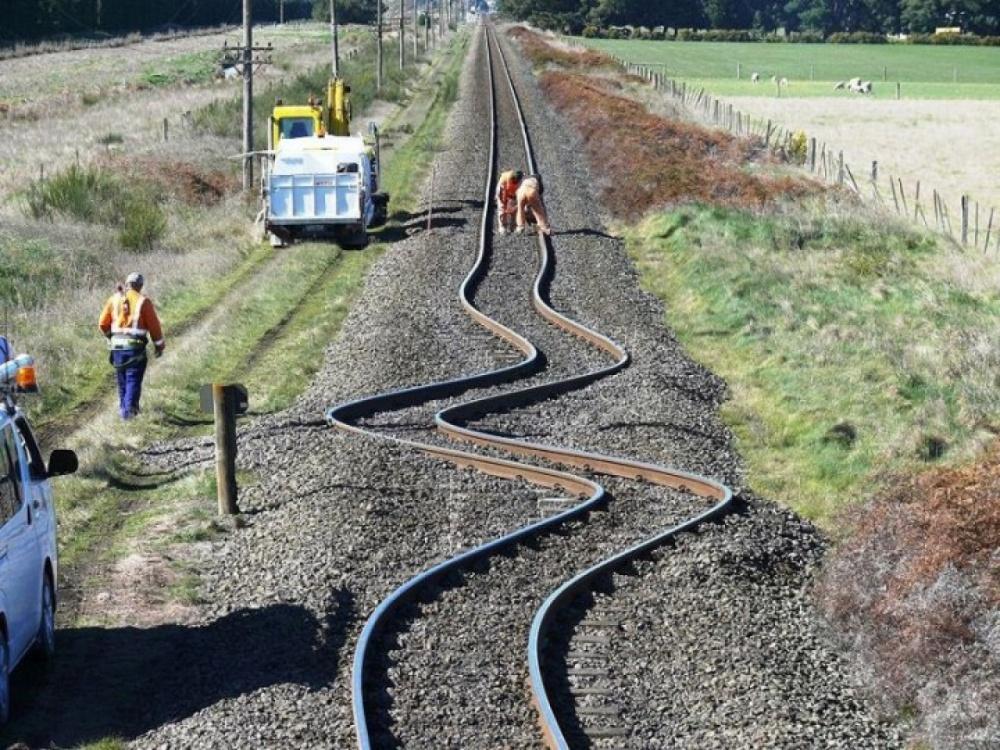 راه آهن نیوزیلند بعد از زلزلهی2010