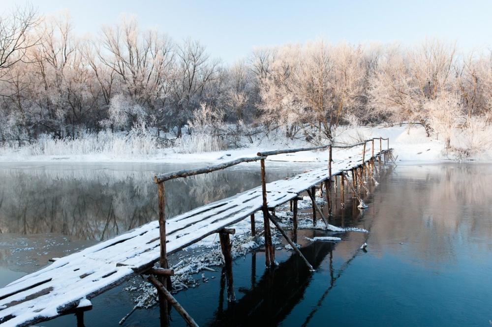 پلی بر رودخانه ی تسنا، منطقه ی تامبوف، روسیه
