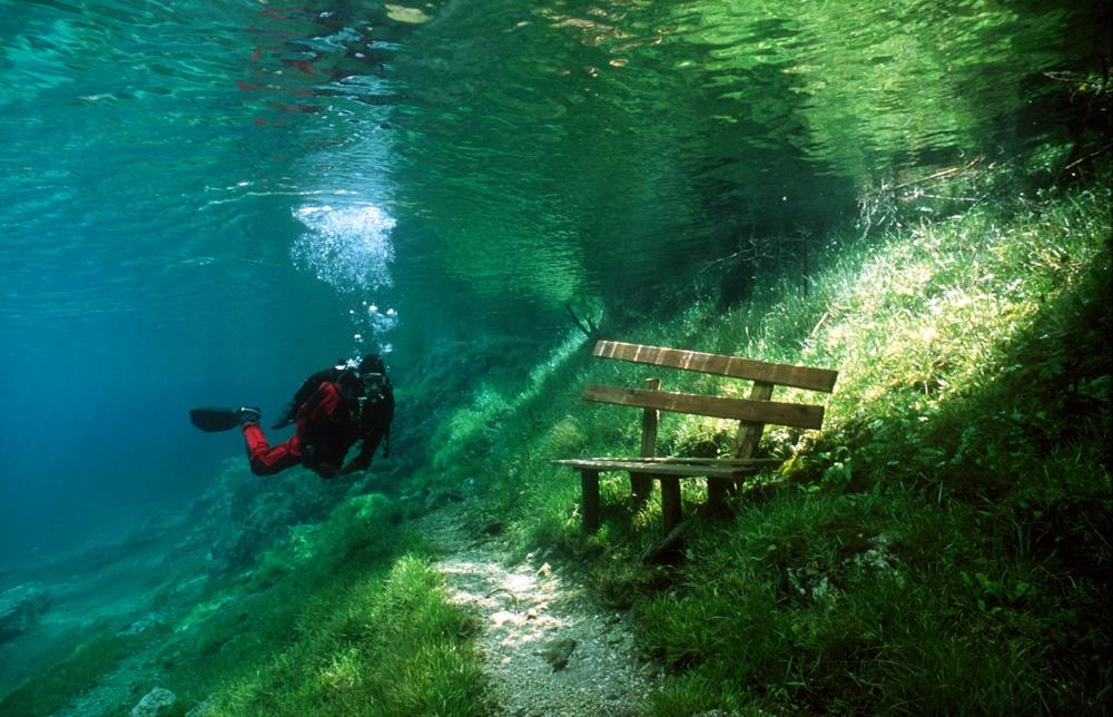 پارکی که تابستانها به یک دریاچه تبدیل میشود