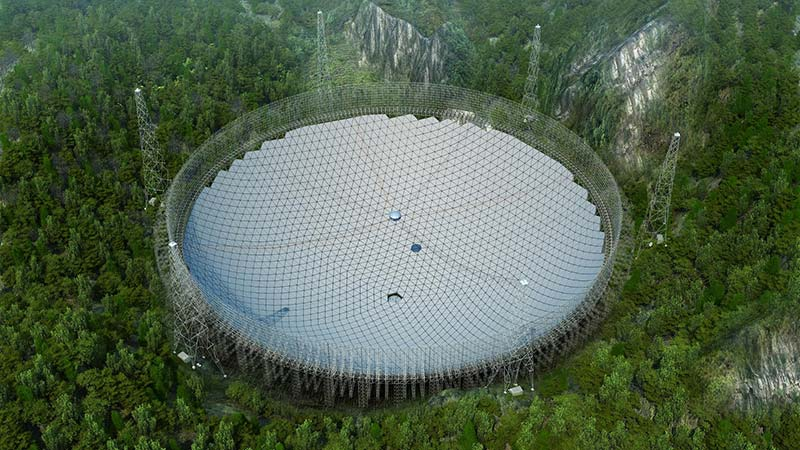 بزرگترین تلسکوپ رادیویی جهان کامل شد