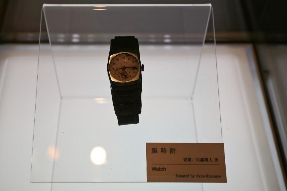 ساعتی که زمان انفجار هیروشیما از کار افتاده