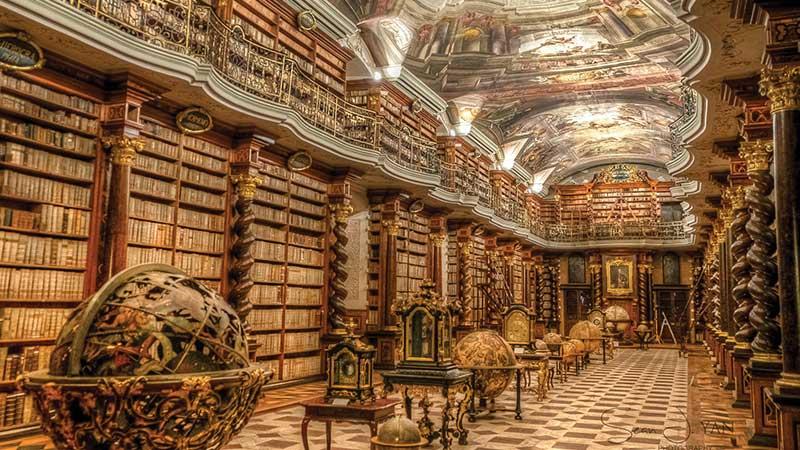کتابخانه کلمنتینوم؛ کتاب خواندن با طعم قرن ۱۸