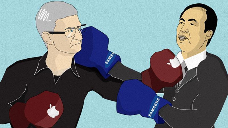 داستان کشمکشهای تمامنشدنی اپل و سامسونگ