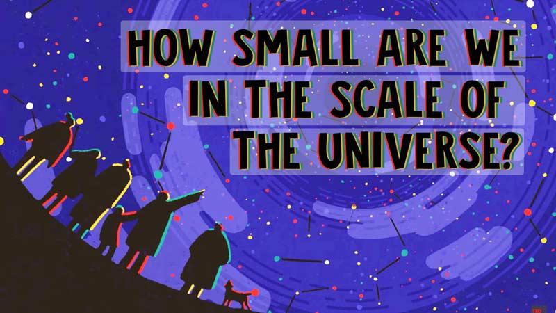 اندازهی ما در مقیاس کیهان