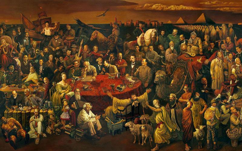نقاشی افراد مشهور تاریخ