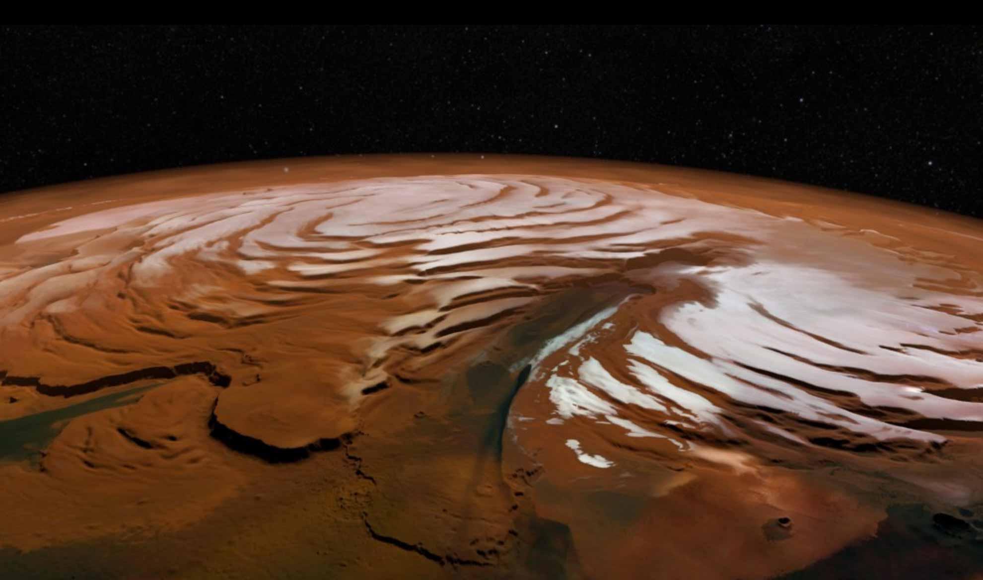 قطب شمال سیاره مریخ